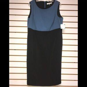 Kasper 2pd Dress w/jacket.  Blue&charcoal.